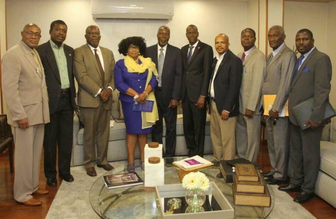 Le Président de la République rencontre la Fédération Protestante d'Haïti
