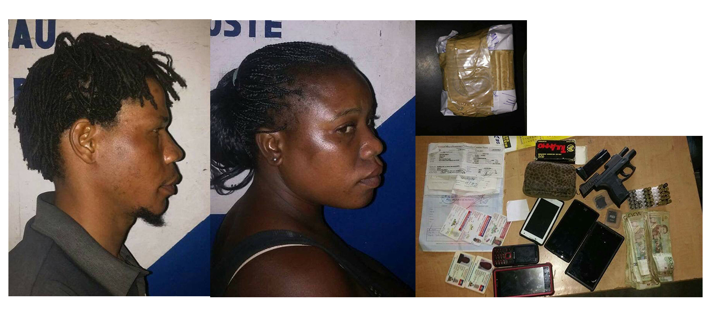 Haïti-Justice: A Port de Paix, des agents de la PNH, ont arrêté 2 suspects en possession de : 350gr de marijuana