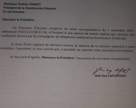 Haïti-Politique:le PM Jack Guy décline une invitation du Parlement