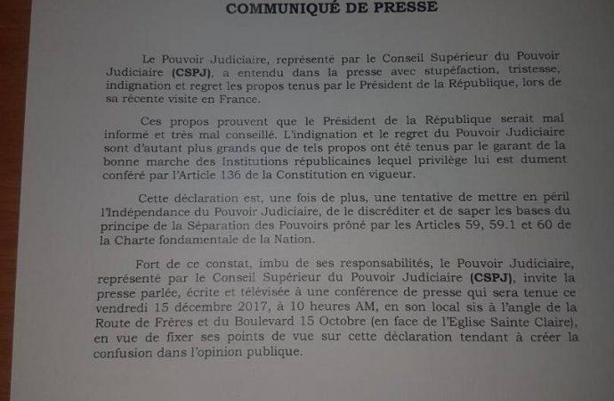 Haïti-Justice : le CSPJ dit ''NON'' à la déstabilisation du pouvoir judicaire