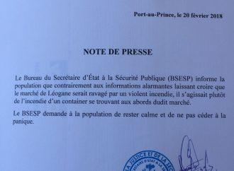 Fausse alerte: le Marché de Léogâne est intact, selon le BSESP