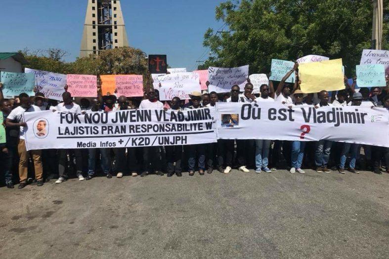 Haiti-Insécurité: disparition de Vladjimir Legagneur, des journalistes réunis pour une même cause