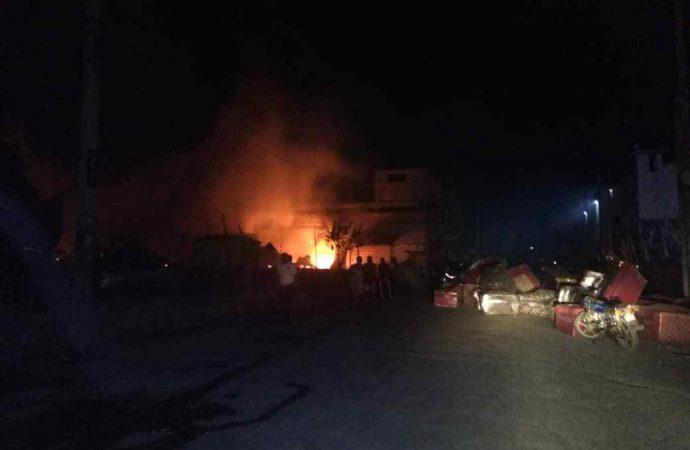 Incendie monstrueux à la rue du Champ de mars: d'énormes pertes enregistrées