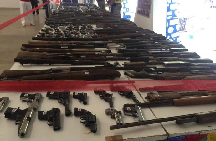 Désarmement: plus de 350 armes illégales détruites par la PNH