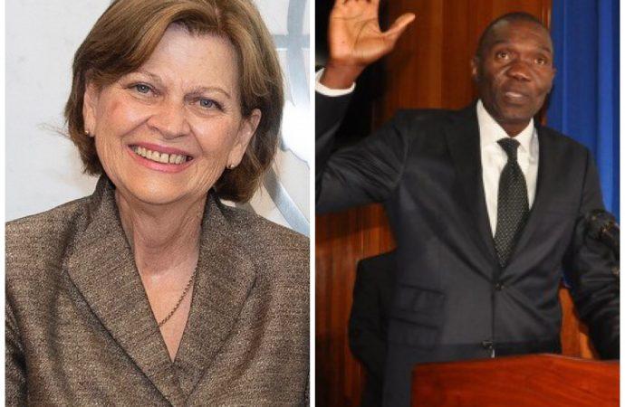 Haïti-ONU: Visite surprise de Helen Meagher La Lime au sénateur Joseph Lambert