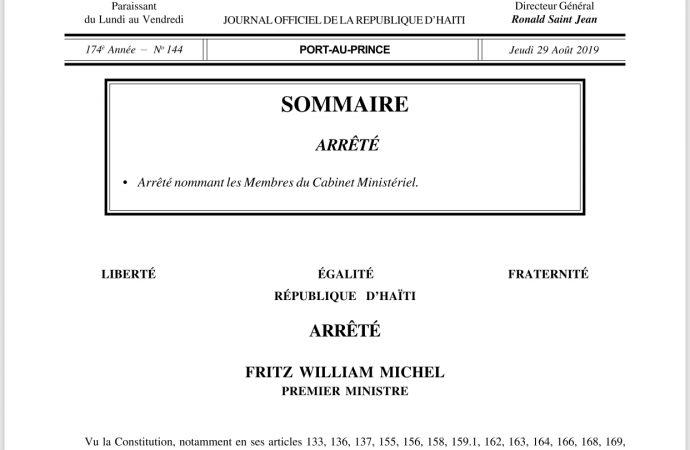 9 membres du nouveau cabinet ministériel imposés par des parlementaires, déplore Ronald Larêche