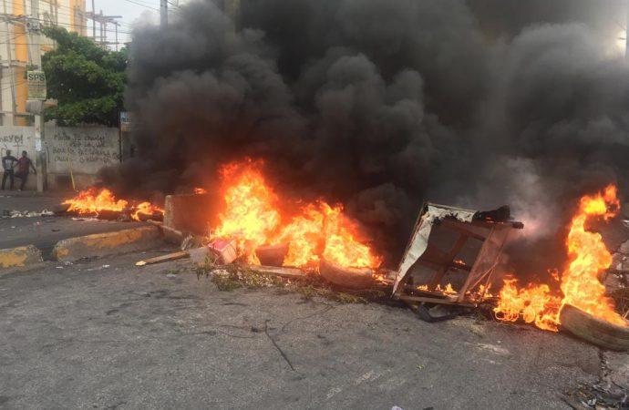 La manifestation de l'opposition se termine en affrontements avec la PNH