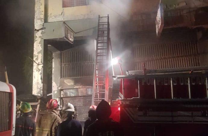 La librairie «Dieu de l'amitié», incendiée par un chef de gang