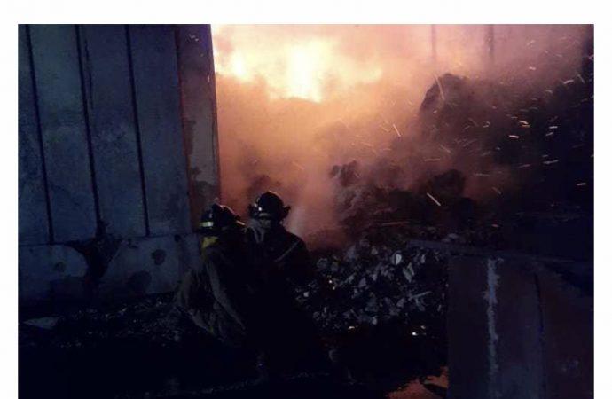 Incendie au marché du Port