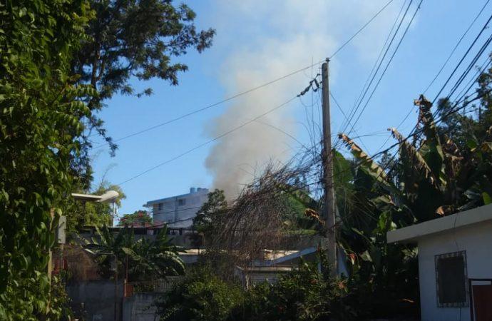 Incendie d'un établissement à Thomassin 32