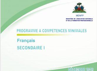 Le MENFP publie en version numérique les programmes à compétences minimales