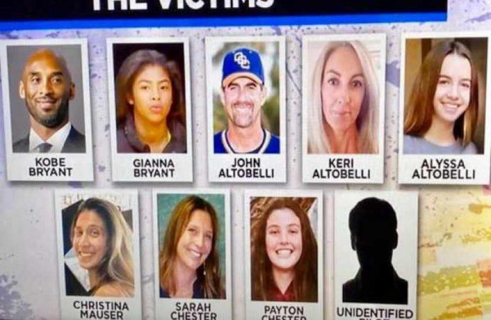 Crash d'hélicoptère-Bilan: Kobe Bryant, sept personnes à bord ont décédé