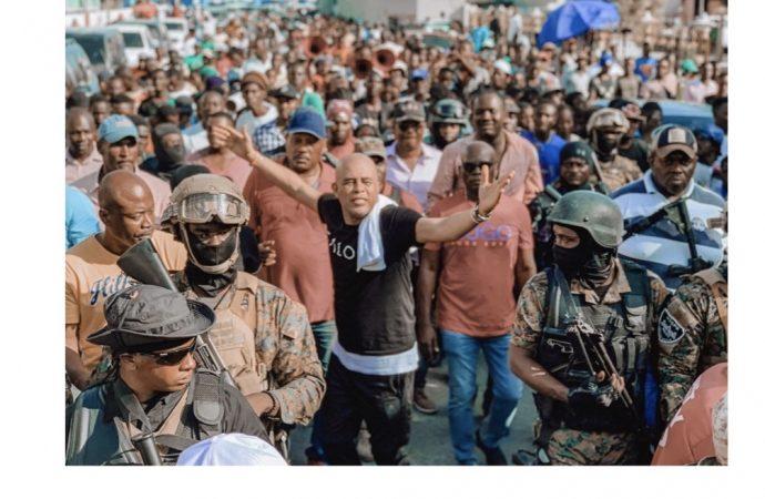Michel Martelly reçoit un accueil chaleureux au Cap-Haïtien