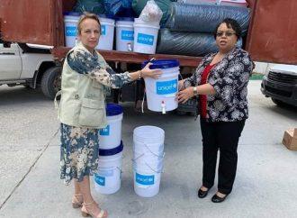 Haïti-Coronavirus : Mauvaise affiche de la Ministre de la Santé publique avec la représentante de l'UNICEF