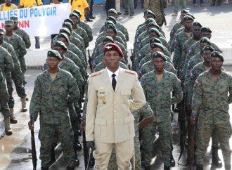 Déploiement d'un contingent des Forces Armées d'Haïti (FAd'H) à Fonds-Parisien