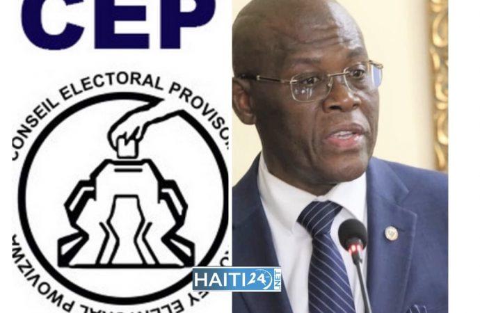 Les neuf membres du CEP désignés, Joseph Jouthe annonce la publication d'un arrêté