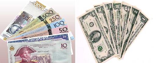BRH : 67.34 gourdes pour 1$ US ce mercredi 30 septembre