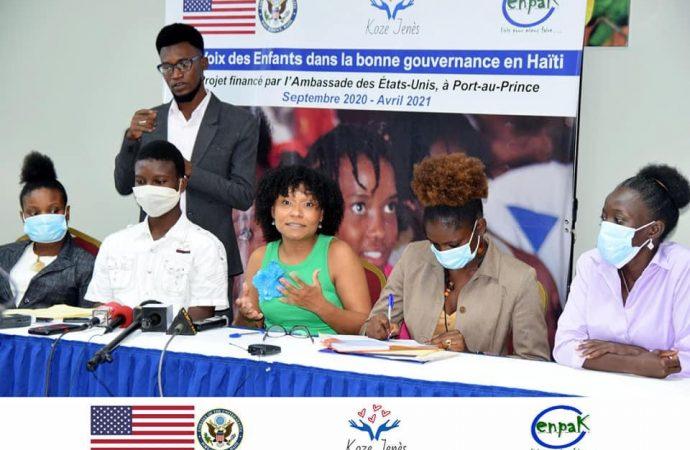 L'organisation ENPAK lance officiellement son projet «La voix des enfants dans la bonne gouvernance en Haïti»