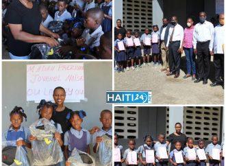 Grand-Anse: Martine Moïse distribue des matériels scolaires à des écoles publiques