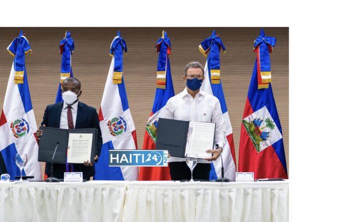 Renforcement de coopération : Claude Joseph et son homologue dominicain signent une déclaration conjointe