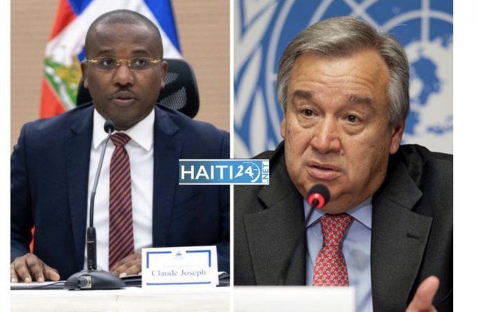 Claude Joseph discute de la tenue des élections haïtiennes avec Antonio Guterres