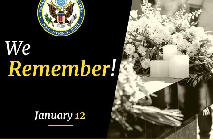 Haïti-Tremblement de janvier 2010 : les États-Unis s'en souviennent
