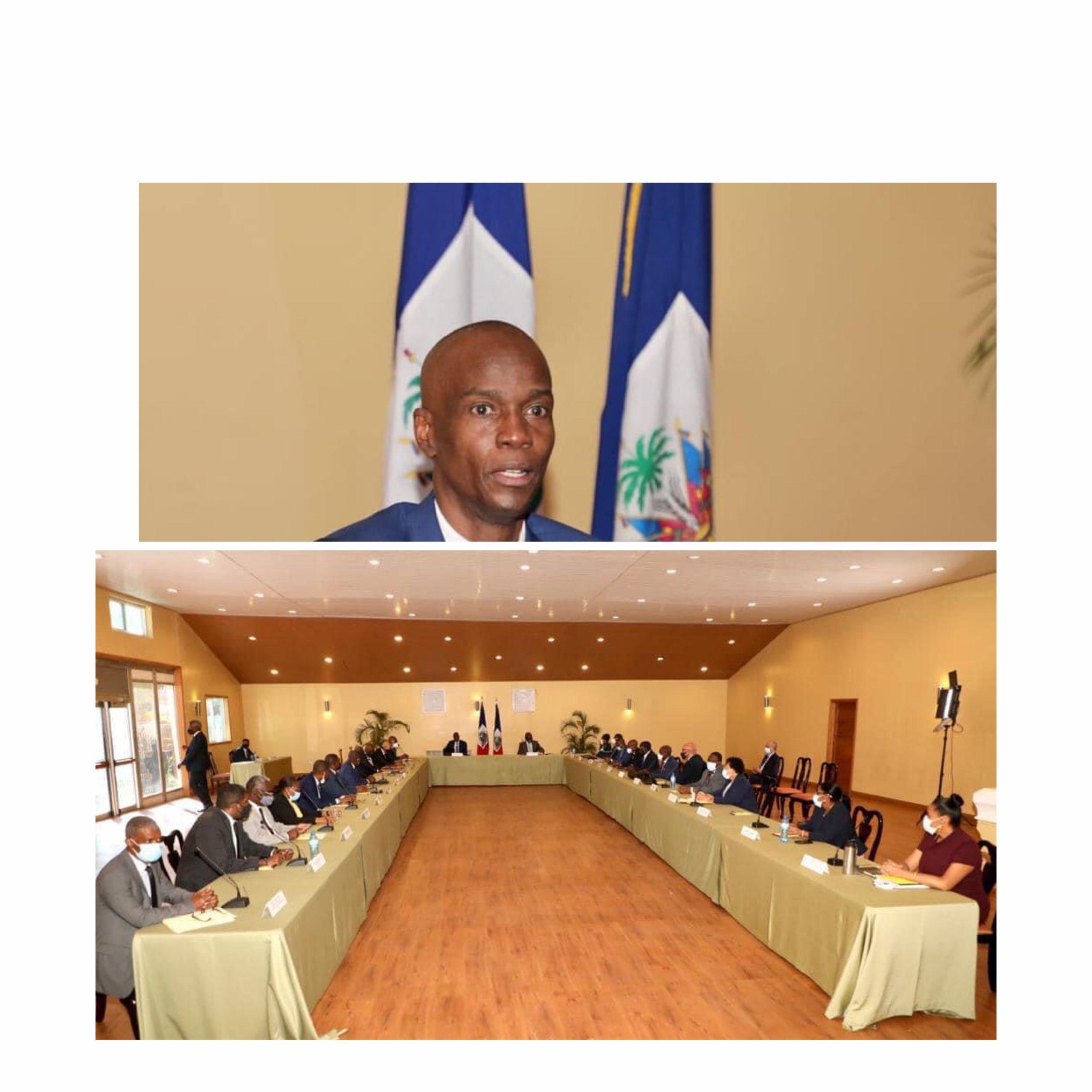 Conseil des ministres : Jovenel Moïse discute de sécurité de la population, du référendum et des élections